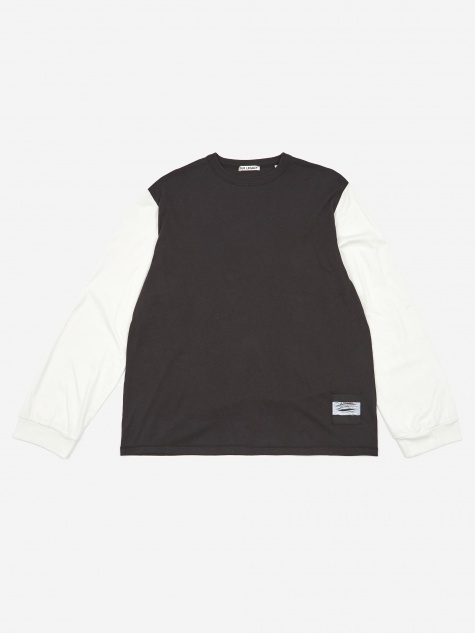 Cuffed Longsleeve T-Shirt - Black/White
