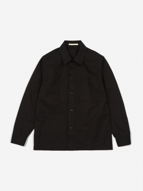 Kyle Cotton Linen Shirt - Black