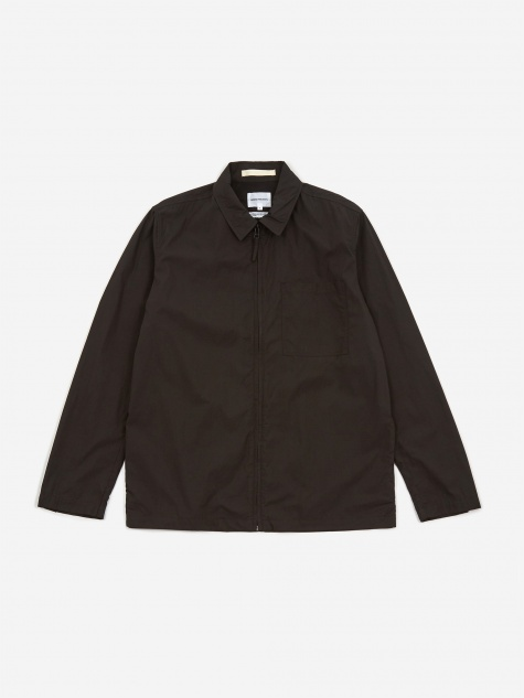 Jens Zip Packable Jacket - Black