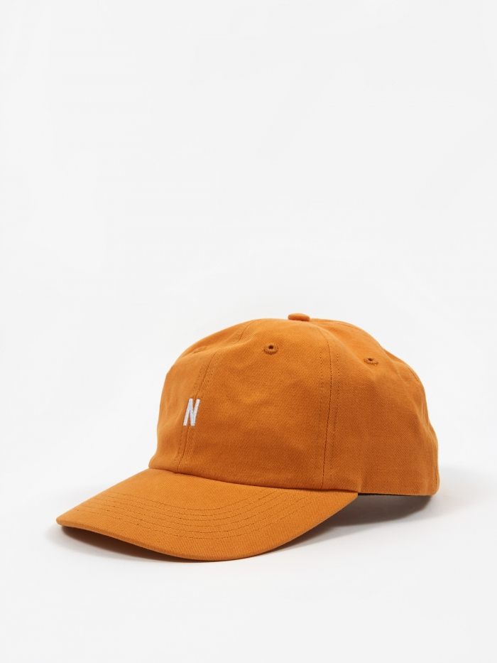 Norse Projects Twill Sports Cap - Cadmium Orange (Image 1)
