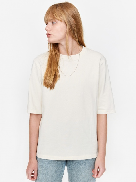 Ginny Heavy Jersey T-Shirt - Kit White
