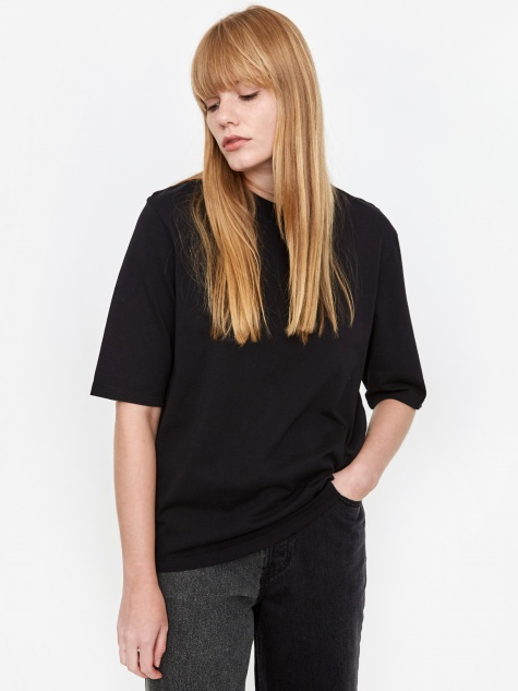 Ginny Heavy Jersey T-Shirt - Black