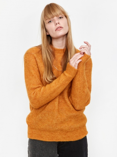 Aslaug Brushed Jumper - Cadmium Orange
