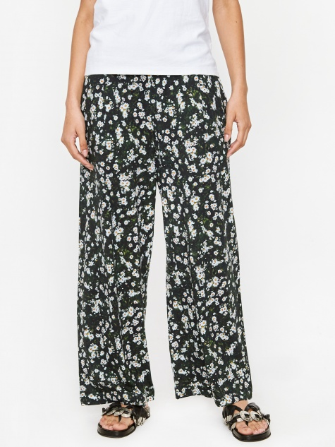 Wide Leg Trouser - Meadow Print