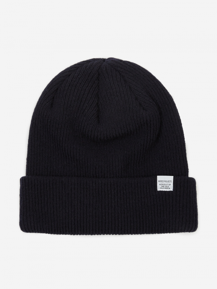 Norse Projects Norse Beanie - Dark Navy (Image 1)