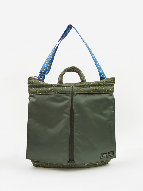 x Porter Yoshida & Co Helmet Bag - Green