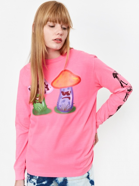 Eat Me Longsleeve T-Shirt - Pink/Black