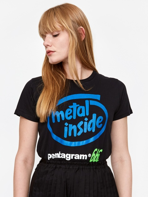 Metal Inside Shortsleeve T-Shirt - Black/Blue