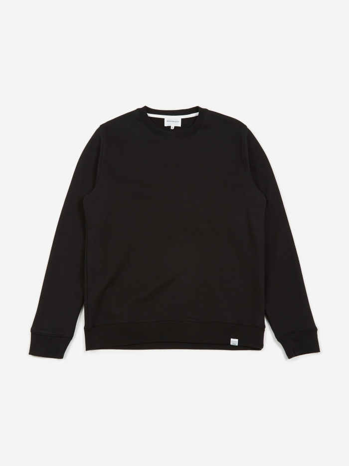 Norse Projects Vagn Classic Crewneck Sweatshirt - Black (Image 1)
