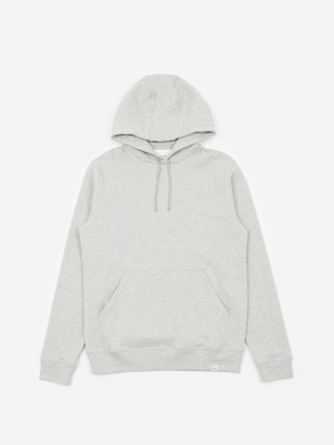 Vagn Classic Hooded Sweatshirt - Light Grey Melan