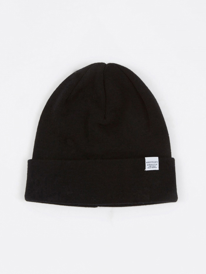 Norse Projects Norse Top Beanie - Black (Image 1)
