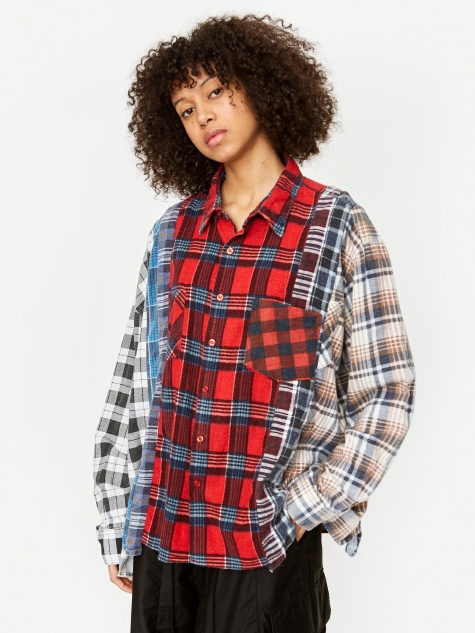 Rebuild Wide 7 Cuts Flannel Shirt - Assorted