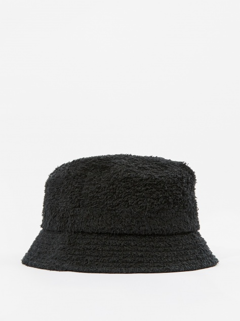 Cotton Pile Bucket Hat - Black