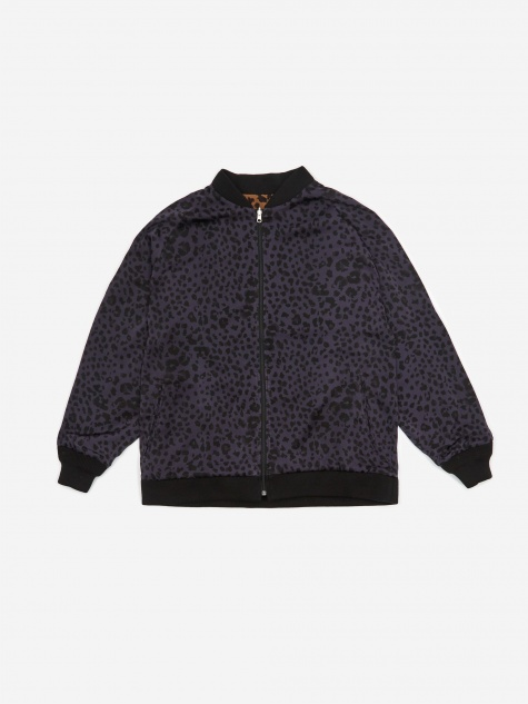 Reversible Rib Collar Jacket - Navy/Brown