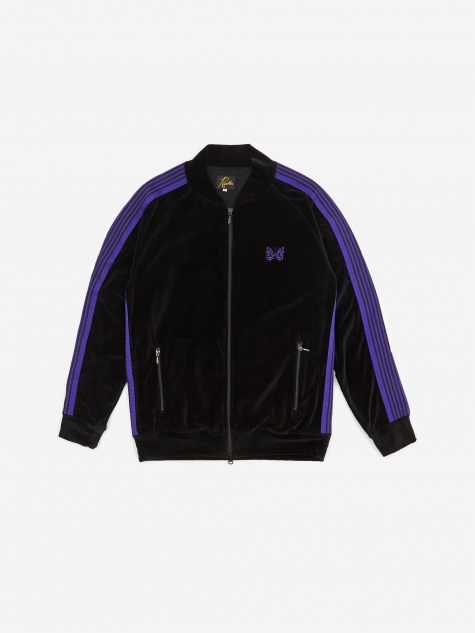 Rib Collar Track Jacket - Black