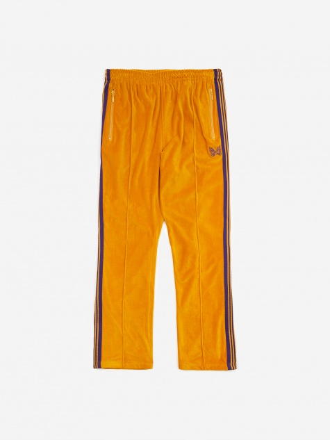 Narrow Track Pant Velour - Mustard