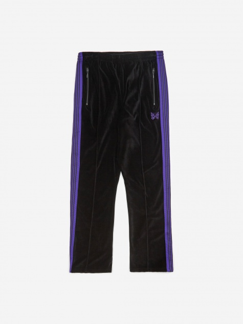 Narrow Track Pant Velour - Black