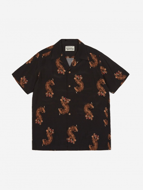Shortsleeve Hawaiian Shirt  Type 2 - Black