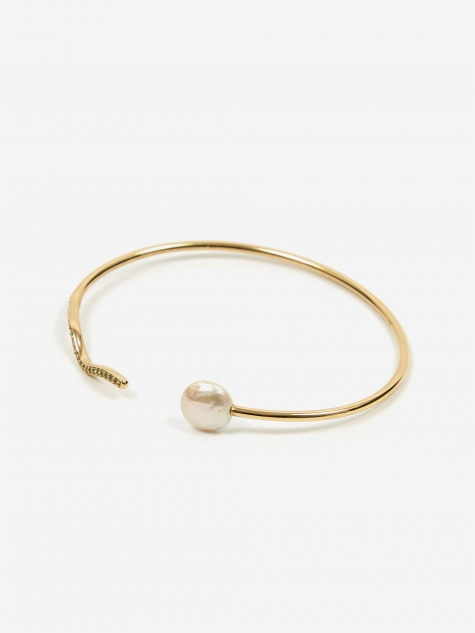 Onda Flexible Cuff - High Polished Gold