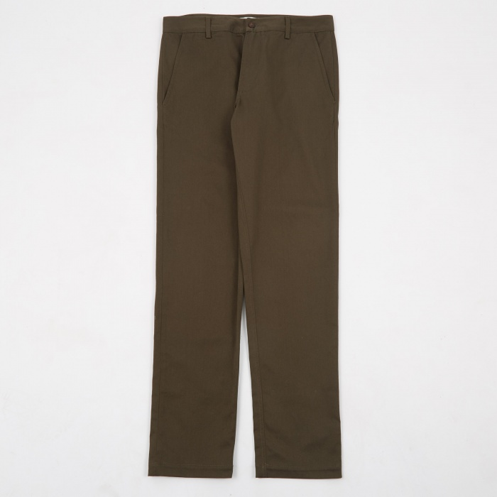 Universal Works Aston Pants - Olive Twill (Image 1)