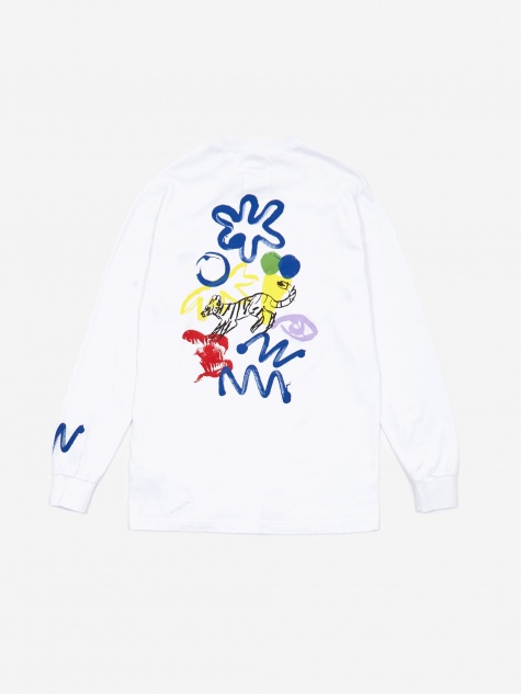 Muderacks Longsleeve T-Shirt - White