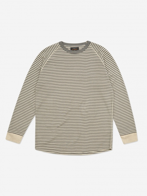 Rib Border Crewneck Sweatshirt - Grey
