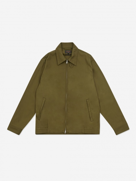 Zip Blouson Cotton Twill Jacket - Olive
