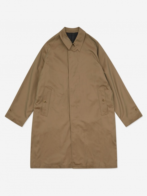 Bal Collar Chambray Coat - Olive