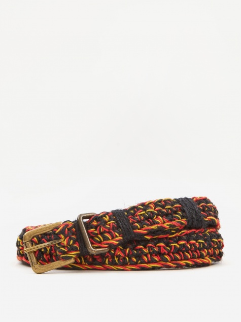 Hand Crochette Belt - Red/Yellow/Black