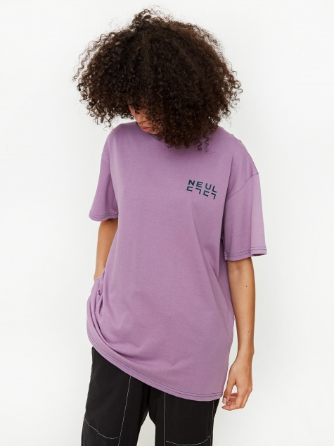 Contrast Stitch T-Shirt - Very Grape