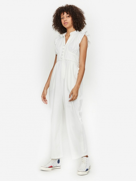 Frilly Jumpsuit - White