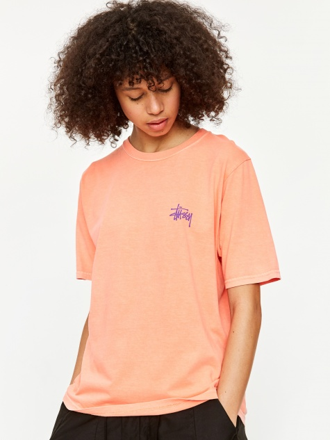 Basic Pigment Dyed T-Shirt - Neon Orange