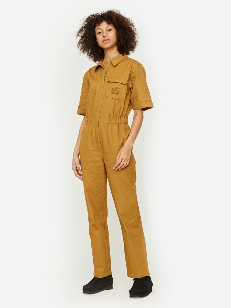 Work Jumpsuit - Mustard