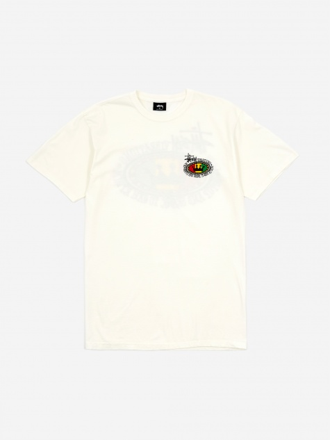 Rasta Oval Pigment Dyed T-Shirt - Natural