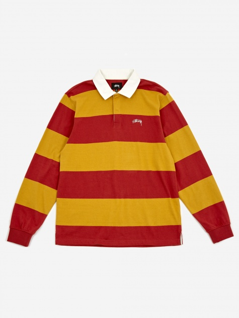 Classic Stripe Longsleeve Rugby Shirt - Mustard