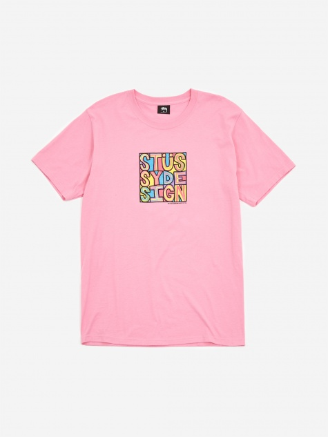 Stussy Clyde T-Shirt - Pink