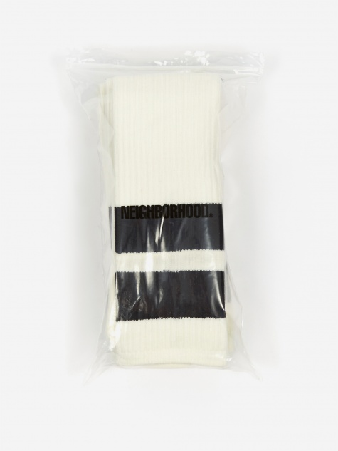 Classic 3 Pac Long / CA-Sock - White