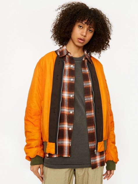 Stand Alone Bomber Jacket - Orange