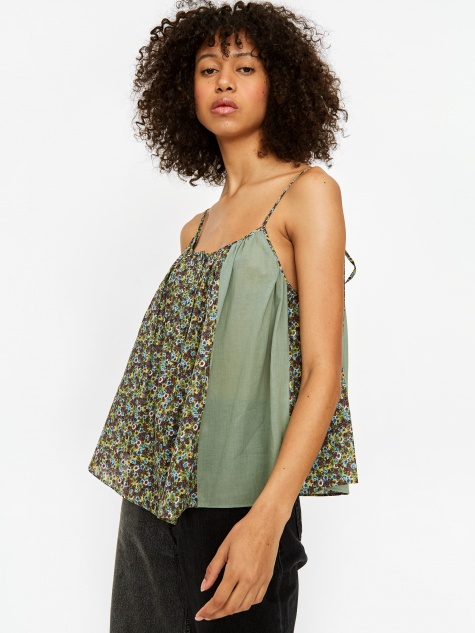 Oversized Cami Top - Green