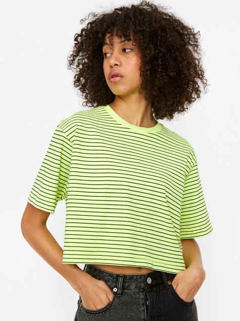 Boxy Shortsleeve T-Shirt - Neon Yellow