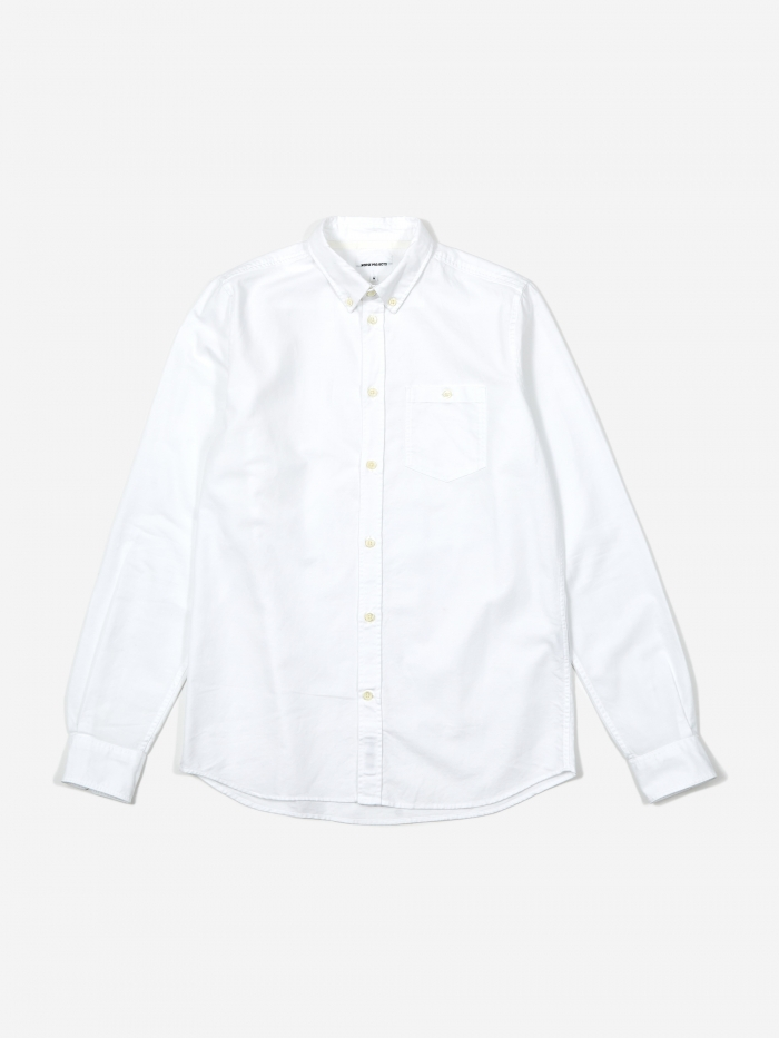 Norse Projects Anton Oxford Shirt - White (Image 1)