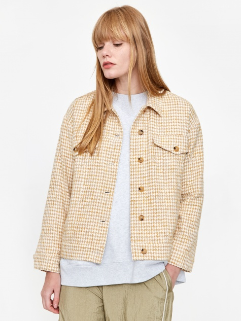 Houndstooth Jacket - Yellow