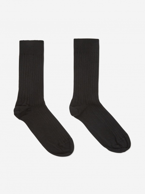 Rib Ankle Sock - Black