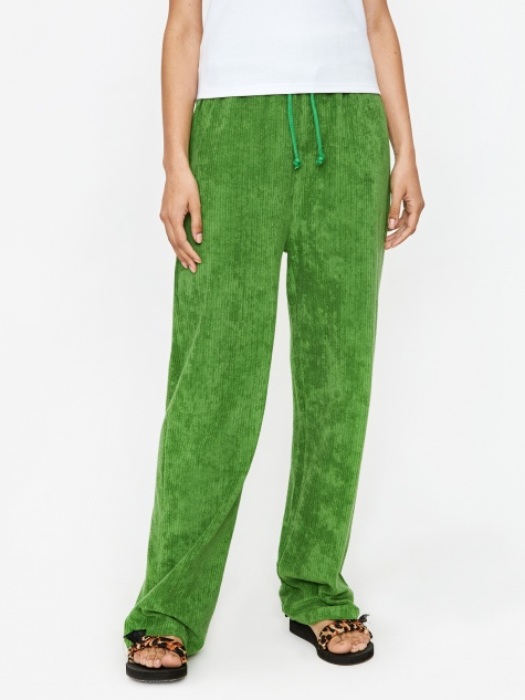Douglas Pant Rib Terry fleece - Grass Green