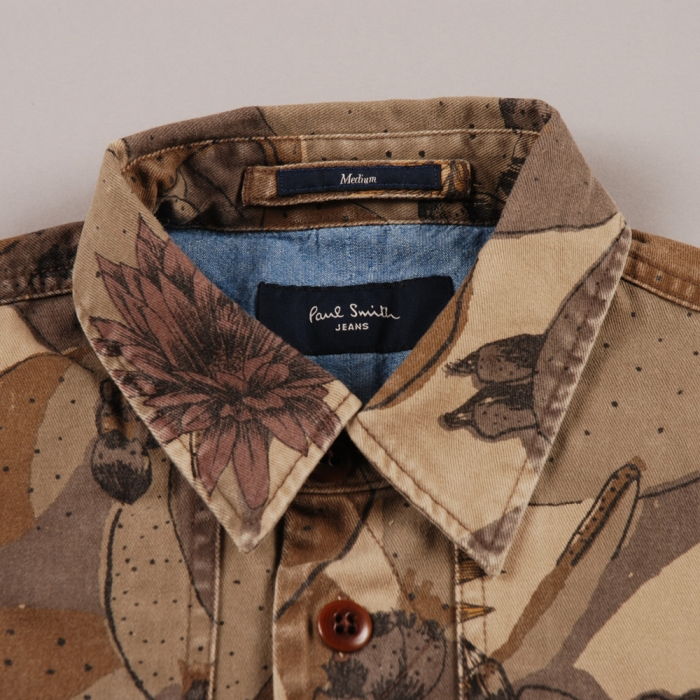 Paul Smith Desert Print Shirt Jacket - Khaki (Image 1)