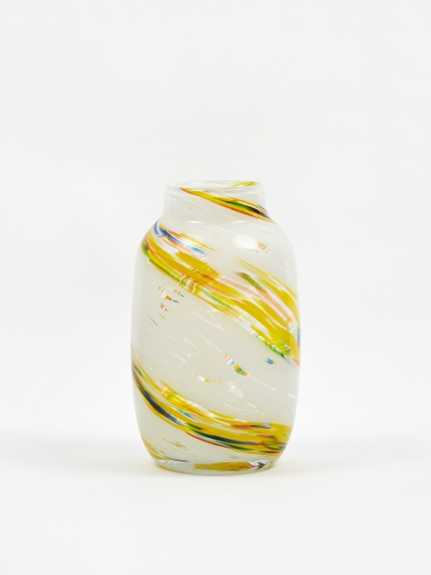 Splash Vase Round Medium - Lemon Swirl