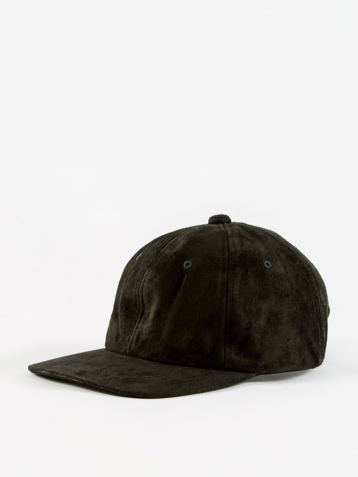 Beams Plus 6 Panel Suede Cap - Black (Image 1)