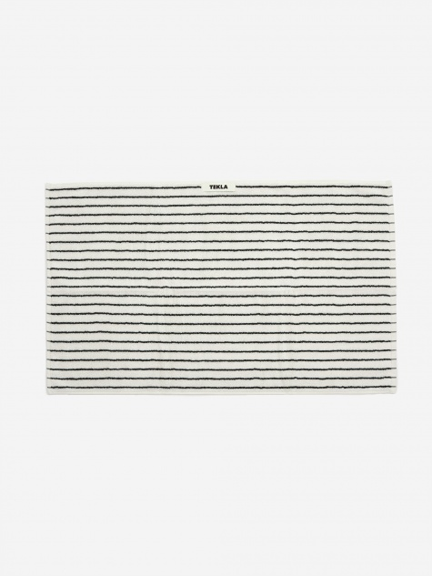 Tekla Organic Terry Hand Towel - Racing Green Stripe