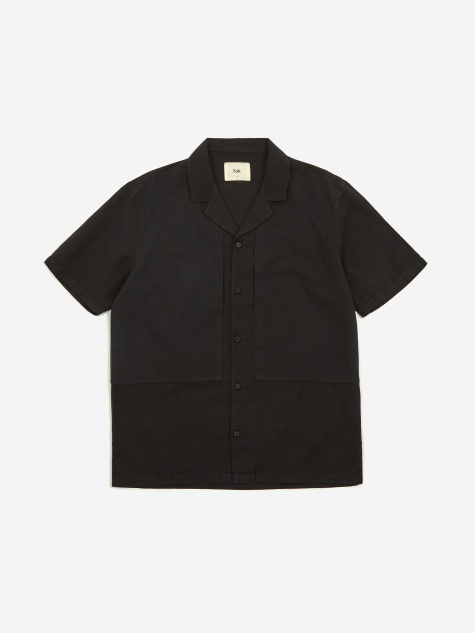 Overlay Shortsleeve Shirt - Soft Black