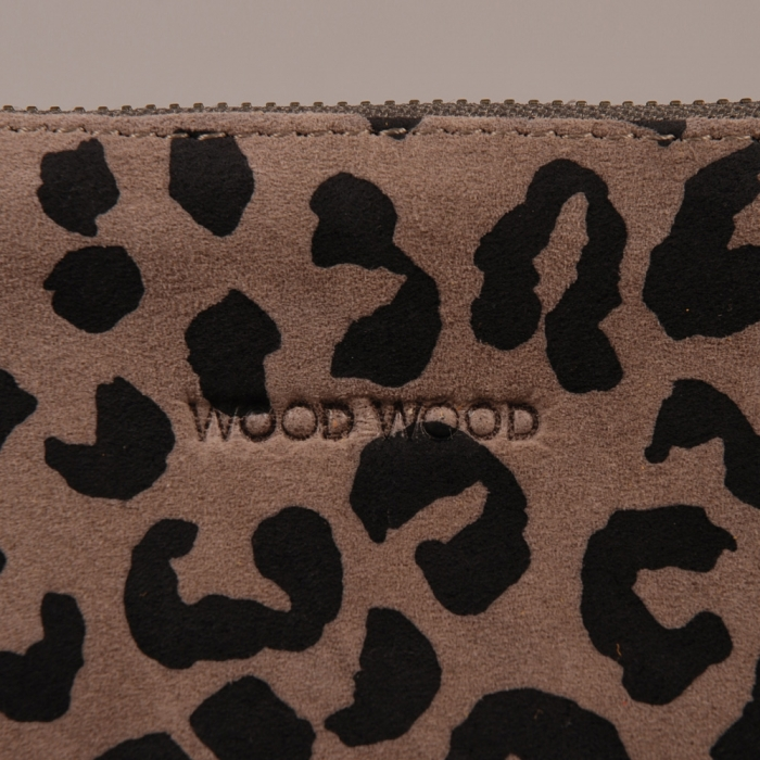 Wood Wood Tri Purse - Grey Suede Leopard (Image 1)
